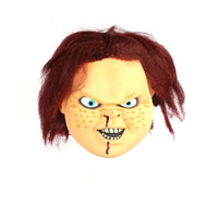 Scary CHUCKY Latex Mask Full Face Creepy Horror Masquerade Adult Ghost Movie Halloween Costumes Fancy Dress