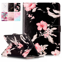 Marble Pattern PU Leather Flip Case For Apple IPad 6 IPad6 Original Tablet Case With Card