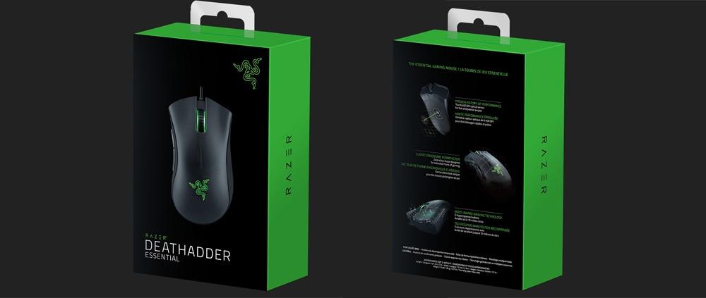 Razer DeathAdder Essential Ergonomic Professional-Grade Gaming Mouse 6400  DPI Optical Sensor Gamer For Computer Laptop PC Mices