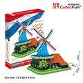 Cubicfun 3D бумажная модель DIY игрушка подарок на день рождения головоломки мира отличная архитектура Голландия Голландия Голландская мельница MC219h 1 шт.