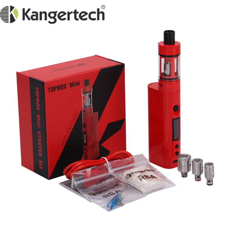 E Cigarette Original Kanger Topbox Mini Starter Kit 75W Support Ni Ti SS NiCr Coils for