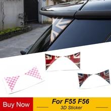 2 Pcs Auto Esterno Posteriore Posteriore Tronco Tailfins Spoiler Ala 3D Autoadesivo Della Decalcomania per BMW Mini Cooper F55 F56 Auto accessori per lo styling