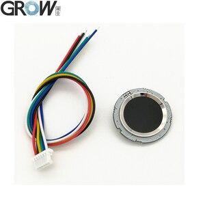 Image 4 - GROW R502 DC3.3V mała okrągła niebieska czerwona dioda LED MX1.0 6pin pojemnościowa kontrola dostępu za pomocą odcisków palców czujnik modułu skanera