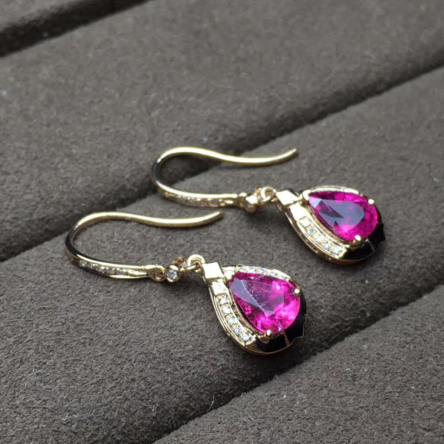 factory wholesale SGARIT brand new fashion 18k real gold Amethyst natural gemstone Imbue Diamond stud earrings jewelry 6