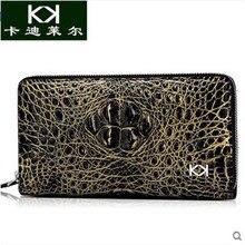 kadiler 2017 new hot free shipping thai crocodile wallet man long zipper bag man more screens  crocodile skin men day clutches
