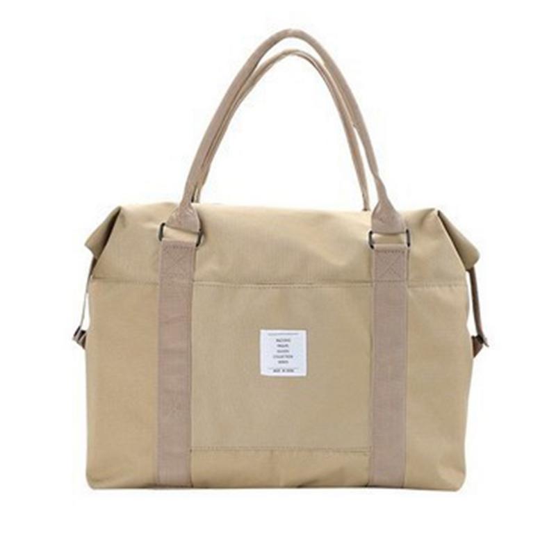 Travel Luggage Duffle Bag Lightweight Portable Handbag Pulse Grid Print Large Capacity Waterproof Foldable Storage Tote