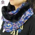 2016 new big ring style floral fashion women winter neckerchief scarves around neck Women Wraps ladies muffler free shipping