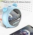 Беспроводной динамик Bluetooth 5 0 цифровой дисплей светодиодные часы ночник будильник радио зеркало косметика HD