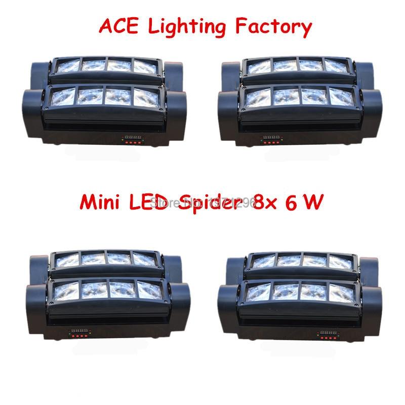 4pcs/lot Free&Fast Shipping New Mini LED Spider 8x6W RGBW Beam Moving Head Stage Light стоимость
