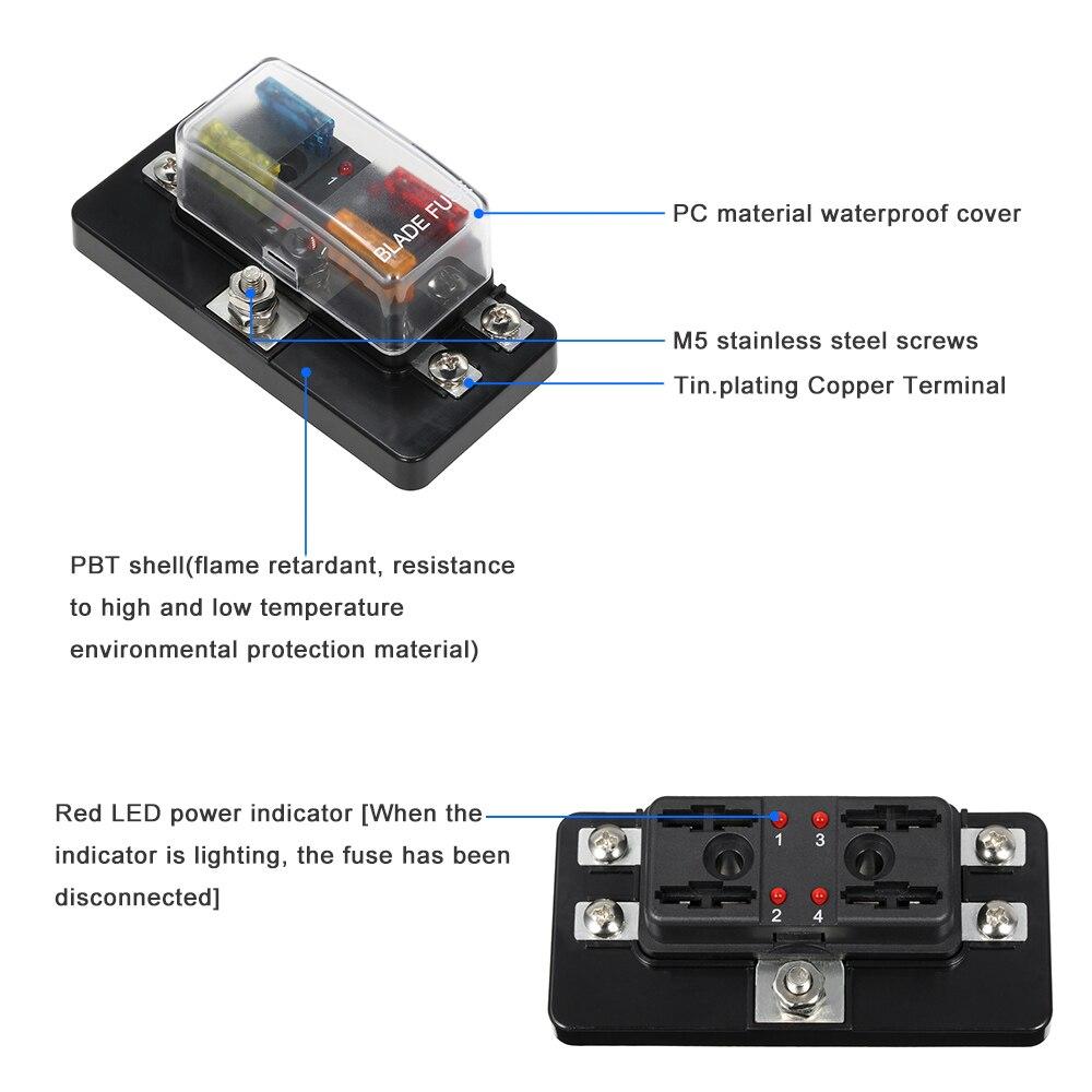 wrg 1615] 4 way car fuse box