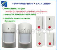 868MHZ door magnet ,PIR detector for 868MHZ alarm system,433MHZ door/window sensor,infrared motion PIR sensor for alarm system