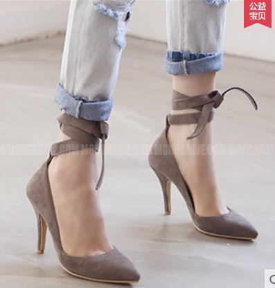 ФОТО Spring autumn women's high-heeled shoes small yards 30 31 32 33 plus size 40 41 42 43 44 single shoes female