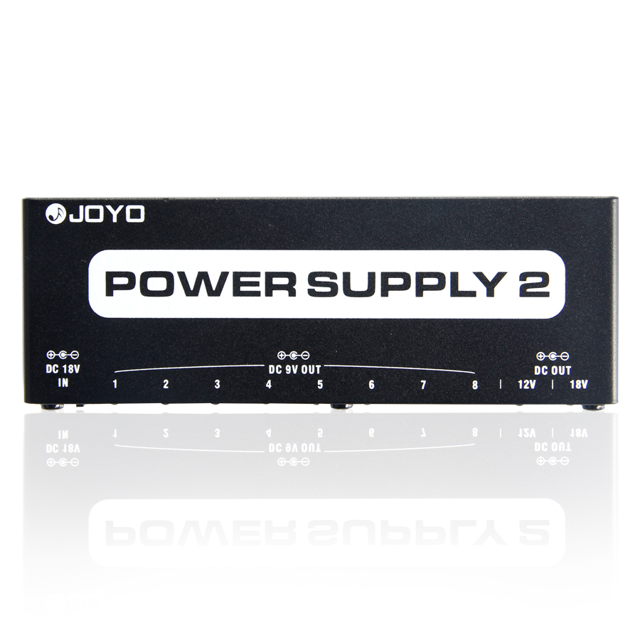 JOYO JP-02 Power Supply 2 Multi-effect Power Supply for 9V, 12V or 18V Guitar Effect with 10 DC Isolated Output Cable
