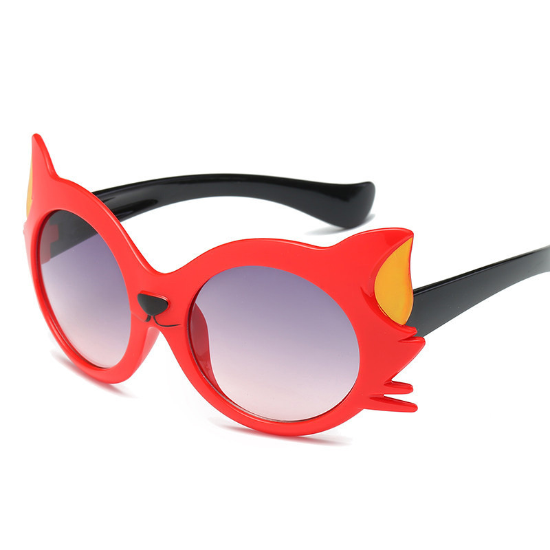 2018 New Kids Girls Boy 8 Colors Cartoon Cat Anti UV400 Eyeglasses Toddler Baby Child Sunglasses Summer Plays Toys Protect Eyes