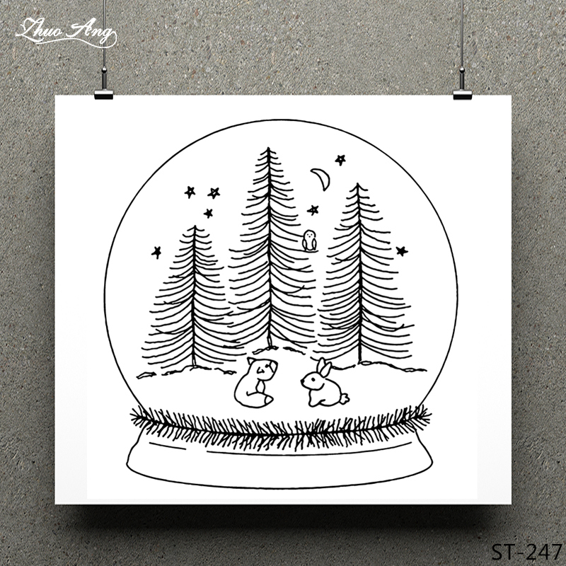 ZhuoAng Christmas magic ball Clear Stamp for Scrapbooking Rubber Stamp Seal Paper Craft Clear Stamps Card Making in Stamps from Home Garden