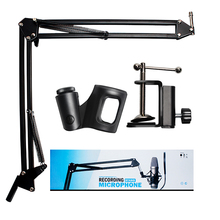 NB 35 Microphone Telescopic Stand Movable Adjustable Wall Mount Microphone Mic Stand Foldable Stand Holder Metal Material