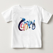 childrens T Shirt 100% Cotton t shirt British Rock Band Coldplay Alphabetic T-shirt Tee  Boys Girls 2018 new NN