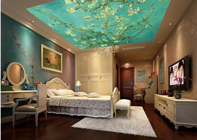 Van Gogh Behang : D stereoscopische behang custom d plafond behang van gogh