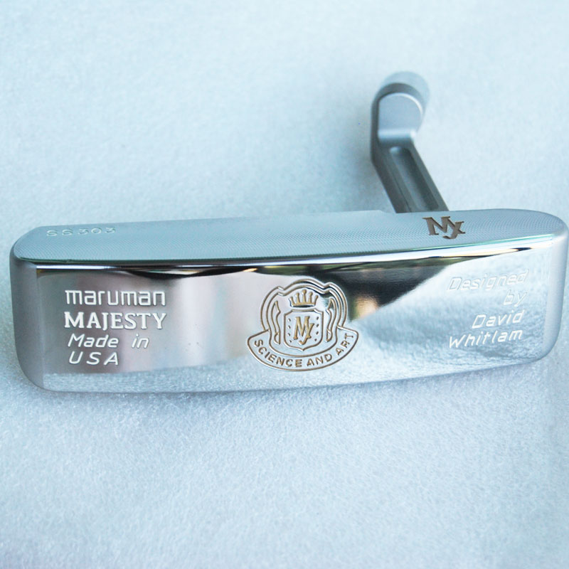 New Mens Golf Heads Maruman Majesty Golf Putter Heads Silver Color Right Handed Putter Clubs Head No Golf Shaft Free Shipping