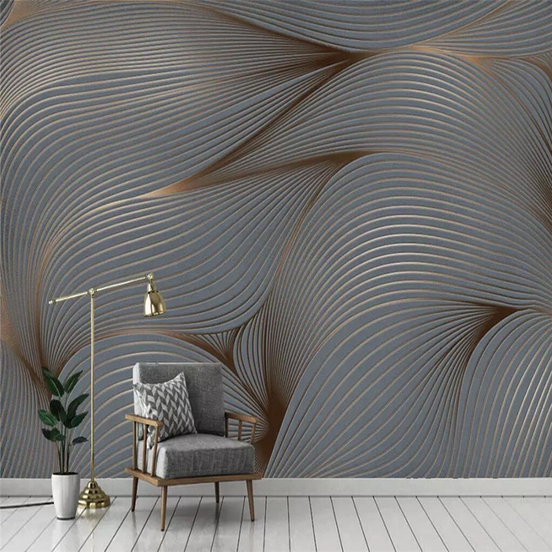 Geometric Abstract Lines Retro Minimalist Background Wall Professional Custom Murals Wholesale Wallpaper Poster Photo Wall