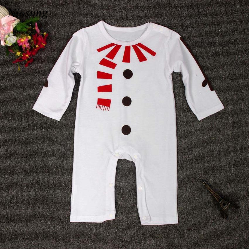 Niosung Fashion Kids Infant Baby Boys Girls Christmas Suit font b Romper b font Hat Outfits