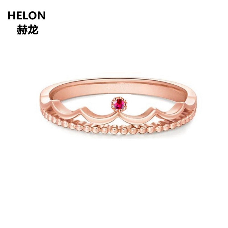 Solid 14k Rose Gold Natural Ruby Women Engagement Ring Anniversary Wedding Band Fine Jewelry case for oneplus 3t tpu transparent soft shell tree branches pattern