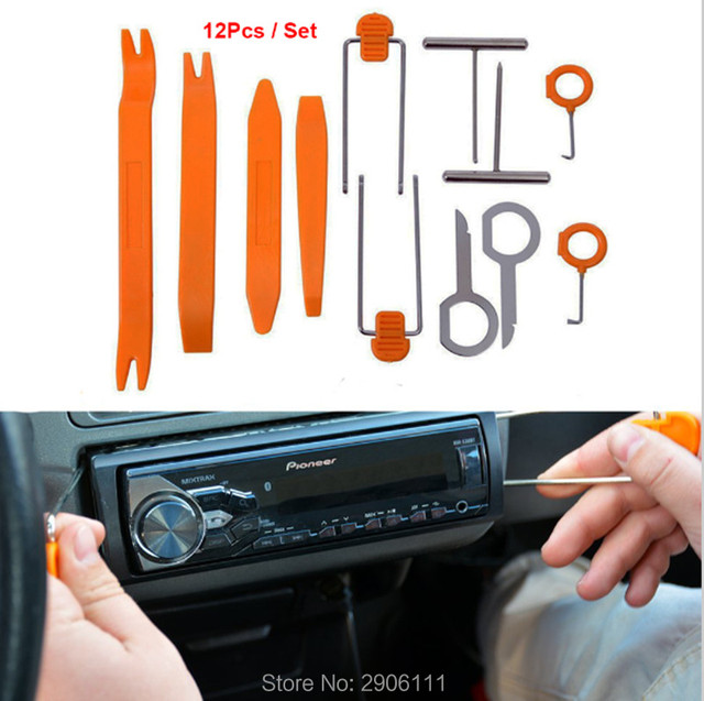 US $11 79 7% OFF|12pcs Car Stereo Installation Kits Car Radio Removal Tool  for Lexus rx350 rx gs is250 gs300 rx300 nx accessories car styling-in Car