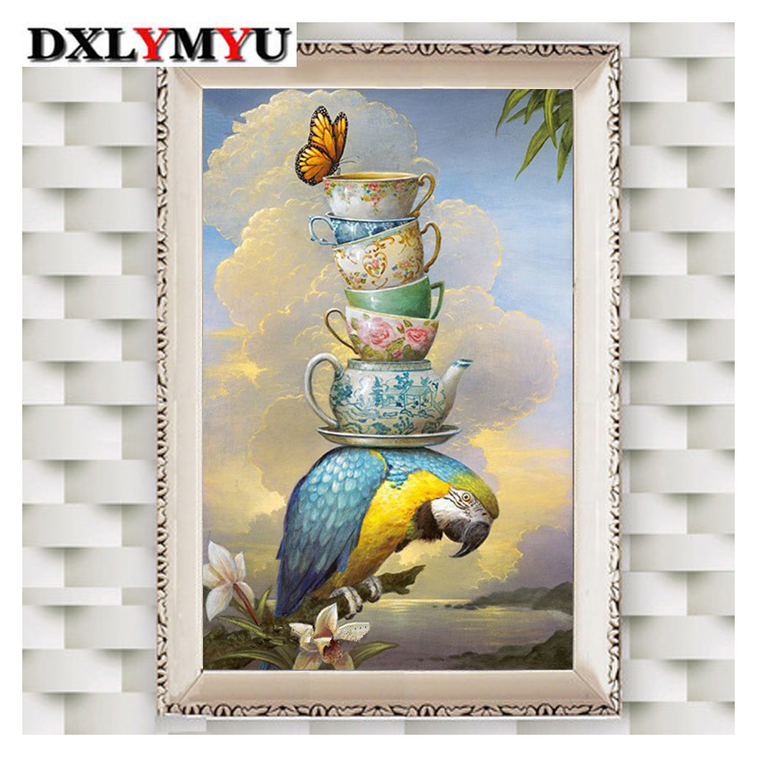 New DIY 5d diamond painting birds picture, inlaid with a square diamond embroidery cross stitch suite, home decoration