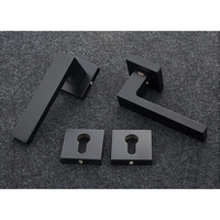 Mortise Interior Square Door Lock Set Reversal Rosette Door Lock set Kit 35 50mm door thickness Zinc Handle