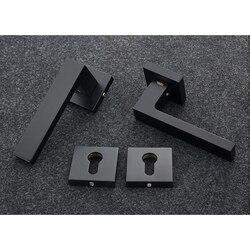 Wpuszczane kwadratowe zestaw zamka drzwiowego odwrócenie rozeta zestaw zamka drzwiowego zestaw 35-50mm grubość drzwi drzwi uchwyt cynku