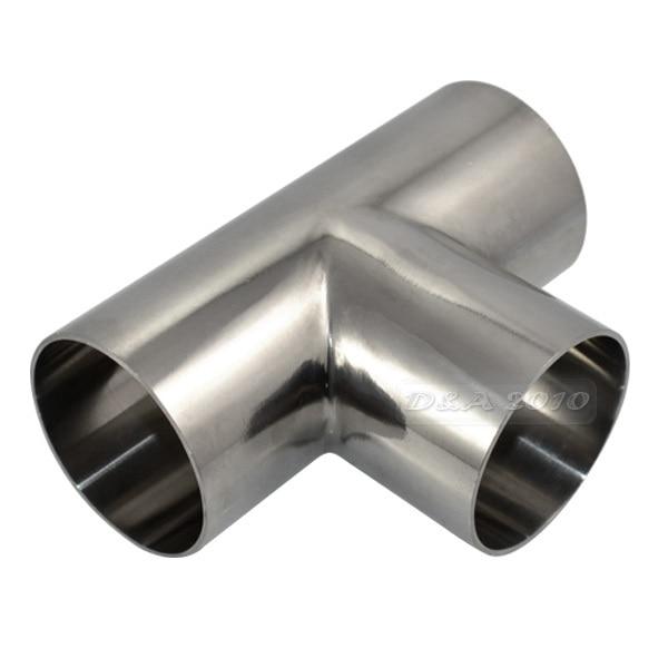 Megairon mm inch high quality sanitary weld tee way