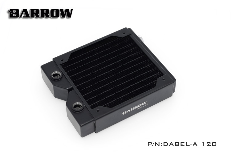 Barrow Dabel-A120 opper 120mm computer Water discharge liquid heat exchanger threaded thread radiator for 12cm fans