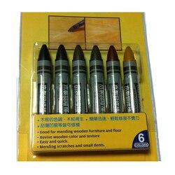 6 szt. W opakowaniu kredki dotykowe wosk Stick wypełnienie zadrapania wgniecenia w meble drewniane podłogi