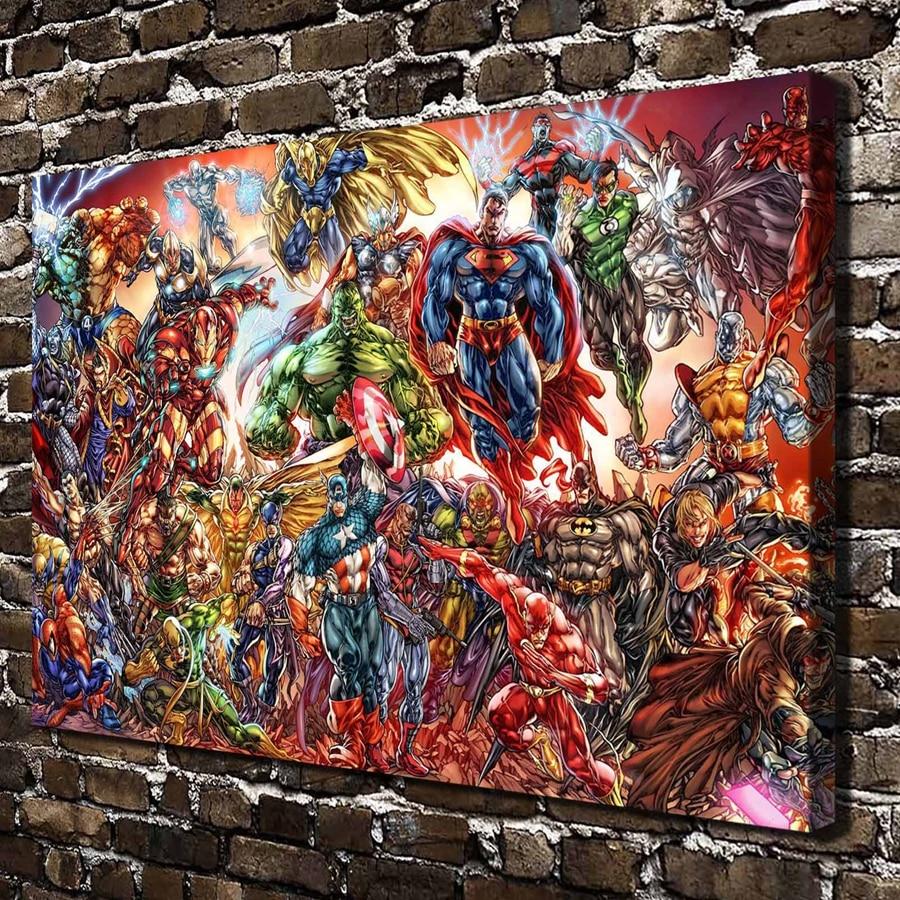 A3626 DC Univers et Marvel ics Bande Dessinée HD Impression