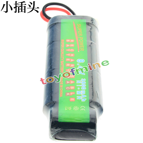 1x 8.4V NiMH Rechargeable Battery Cell 3800mAh Pack Tamiya Plug image
