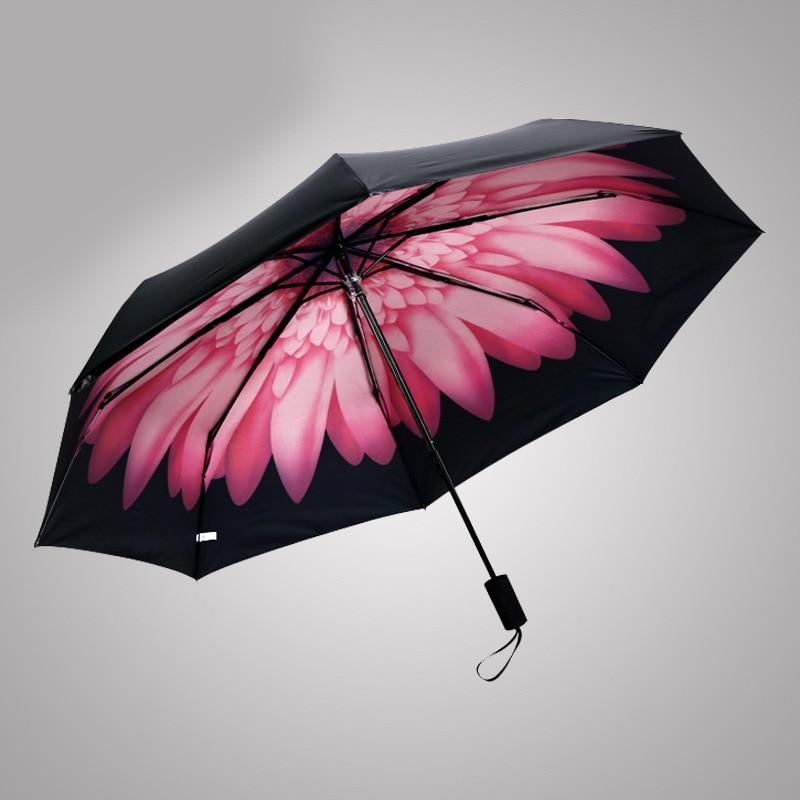 Három összecsukható esernyő fekete gumi bevonatú esernyő - Háztartási árucikkek