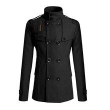 Мужская Мода Стройная Длинный Плащ Ветровка Нагрудные Куртка И Пиджаки