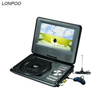 2016 Newest Portable 7 Inch DVD Player With Rotatable Screen Game And TV Function Use At