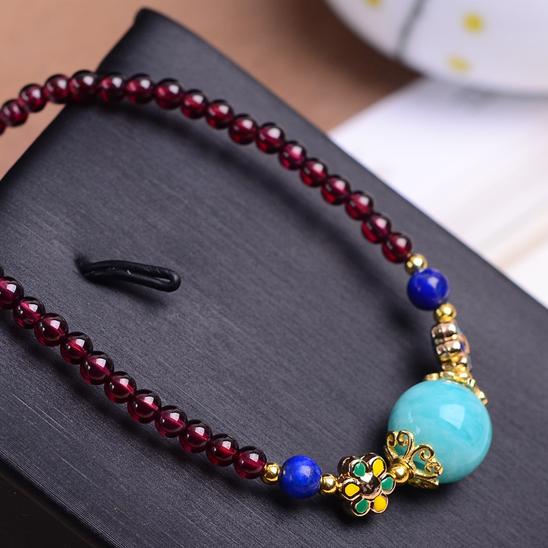 4 Styles Handmade Authentic Garnet Beads Necklace Natural Crystal Unisex