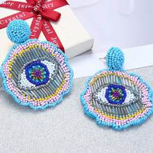 ROYALBEIER Seed Beads Long Tassel Earrings Handmade Weaving Drop Earrings Boho Statement Fashion Jewelry Ethnic Bijoux ES0365(China)