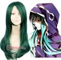 2015 New Arrival Kagerou Project MekakuCity Actors Kido Tsubomi Kanokido Long Dark Green Anime Cosplay Wig Free Shipping