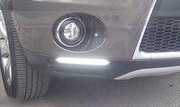Тюнинг автомобилей наивысшего качества LED Противотуманные фары для Mitsubishi Outlander с желтой Включите свет функция