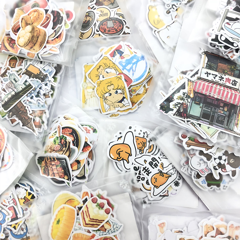 1 Bag Cute Cartoon Korean Style Decorative Stickers Adhesive Stickers Scrapbooking DIY Decoration Diary Stickers-in Stationery Stickers from Office & School Supplies on Aliexpress.com | Alibaba Group