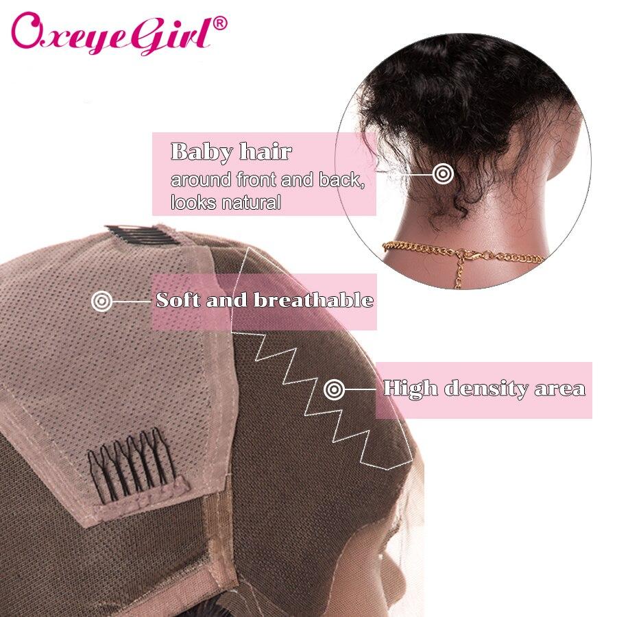 Pre Plucked Full Lace Mänskliga Hårperor Med Baby Hår Brasilianska - Mänskligt hår (svart) - Foto 5