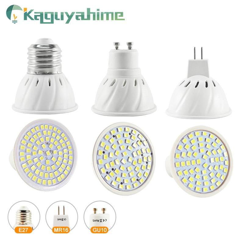 Kaguyahime 220V E27 MR16 GU10 LED Spotlight Bulb 240V 12V Bombillas LED Lamp Spot Light SMD 2835 Lampara High Bright For Home