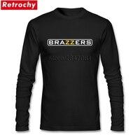 Brazzers Logo Tees Áo Sơ Mi Mens Retro Phong Cách T-Shirt O-Cổ Giá Rẻ Giá Mang Nhãn Hiệu Trang Phục Ngày Valentine