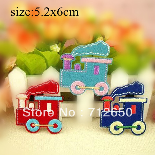 Free Shipping Mixed 9pcslot Embroidered Train Design Iron On Patch