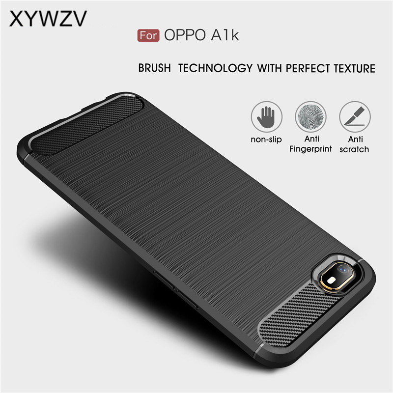 For Oppo A1k Case Shockproof Cover Armor Protective Soft TPU Silicone Rubber Phone Case For Oppo A1k Back Cover For Oppo A1K