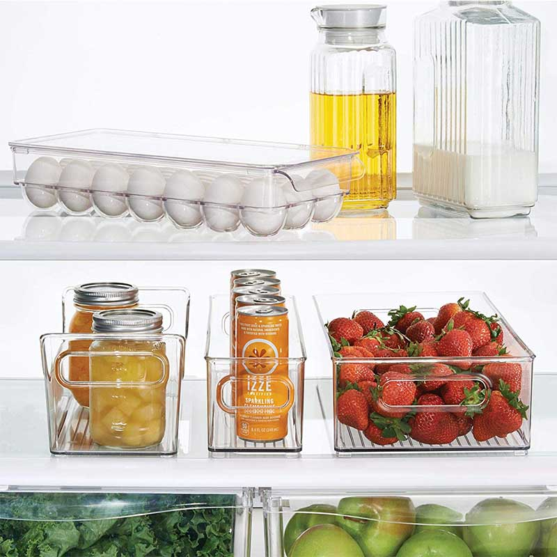 Image 4 - Kitchen  Racks & Holders 14/21 Grid Egg Box Food Container Organizer Boxes for Storage Double Layer Multifunctional Egg Crisper-in Racks & Holders from Home & Garden