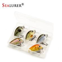 SEALURER 5PCS/Lot 1.8g 3cm Topwater 0.1-0.5m Wobbler Japan Mini Crankbait 5Baits with Plastic Field Fly Fishing Lure Loopy Wobbler